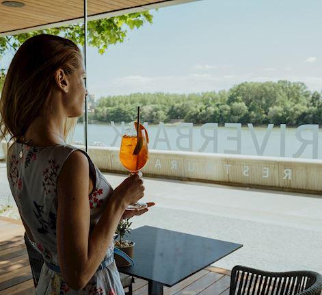 Summer terrace RIVERBANK Restaurant